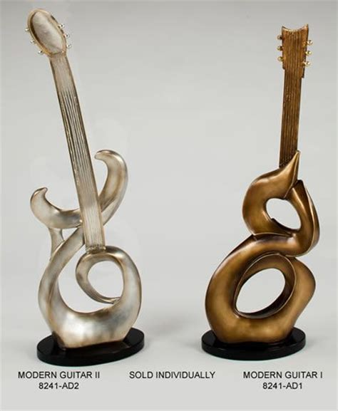 statues and sculptures home decorating modern guitar figurine sculpture statue home d 233 cor