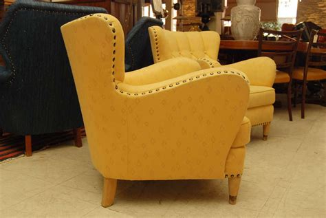 Yellow Club Chair pair of yellow club chairs at 1stdibs