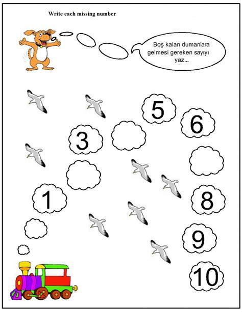 worksheet missing number worksheets for kindergarten