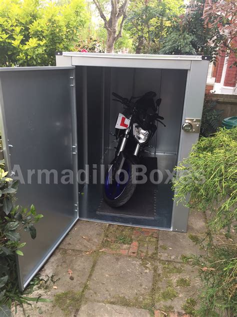 Motorbike Metal Shed by 5ft Motorcycle Storage Shed Large Motorcycle Security