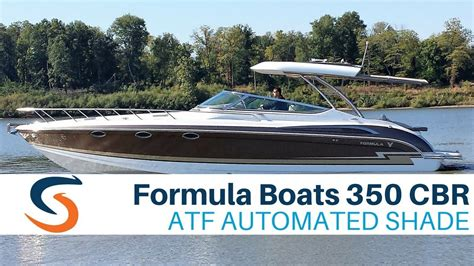 formula boats 350 cbr for sale formula boats 350 cbr with sureshade automated shade youtube