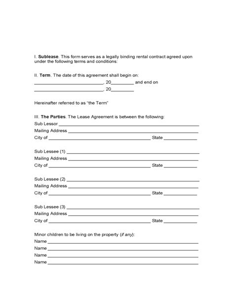 New Hshire Residential Lease Agreement Free Download Nh Rental Agreement Template