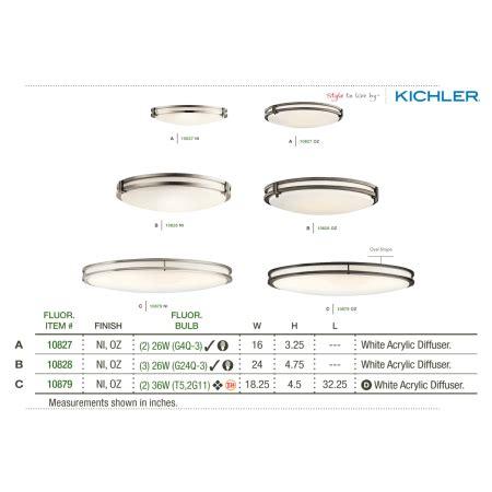 kichler 10827ni flush mount ceiling fixture kichler 10827ni brushed nickel 2 light 16 quot wide flush mount energy ceiling fixture