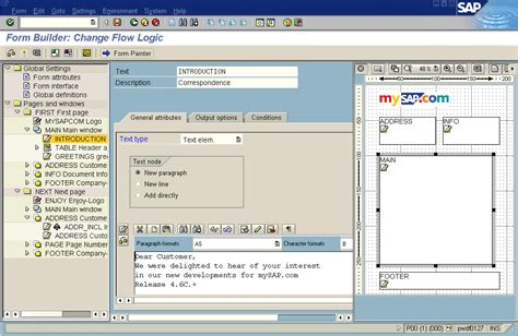 layout definition sap smartforms