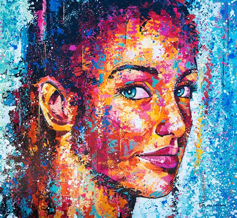 colorful portraits colorful large scale portraits by terrin designwrld