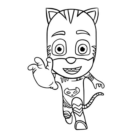 A Coloring Page Of A by Pj Masks Coloring Pages Best Coloring Pages For