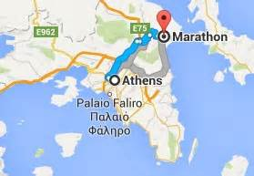 Marathon Greece Map by Background And History Of Marathon Running Race Calendar