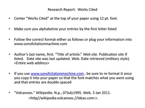 How To Do Works Cited For Research Papers by Works Cited For Research Paper