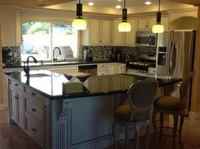 l shaped kitchen island interior exterior doors