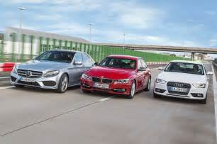 mercedes c class w205 vs bmw 3 series f30 vs audi a4 b8