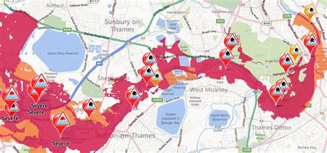 river thames flood plain map river thames level expected to rise teddington