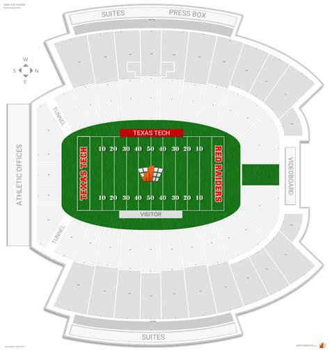 texas tech football seating map jones at t stadium texas tech seating guide rateyourseats