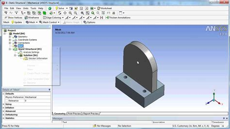 ansys designmodeler tutorial ansys workbench cad transfer from solidworks design