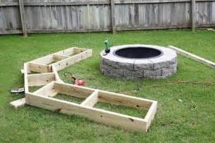 Wood Tire Storage Rack Plans by Diy Circle Bench Around Your Fire Pit 1001 Gardens