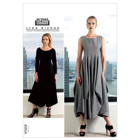 dress pattern vogue uk vogue pattern v1312 easy misses dress by lynn mizono