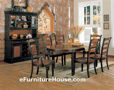 Distressed Black Dining Room Table Delmaegypt Home Inspiration