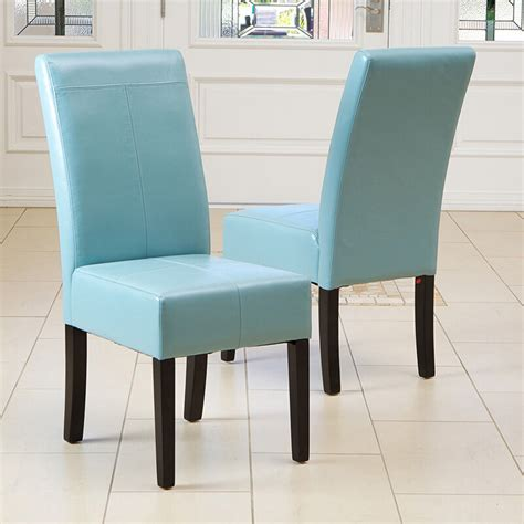 leather dining room chairs set of 2 dining room teal blue leather parsons dining