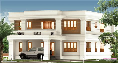 kerala home design kannur 2800 sq feet flat roof villa exterior kerala home design