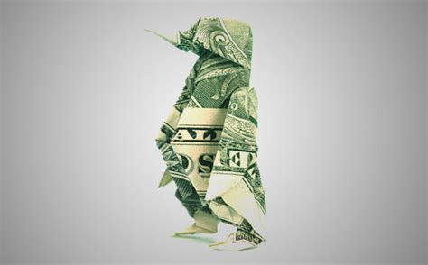 Money Origami Penguin - 20 cool exles of dollar bill origami bored panda