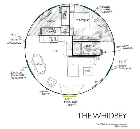yurt floor plans the whidbey cabin