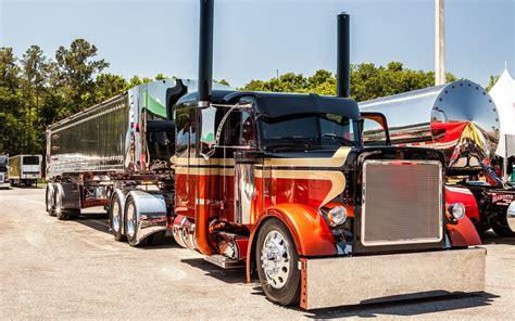 peterbilt semi trucks custom peterbilt semi trucks wallpaper