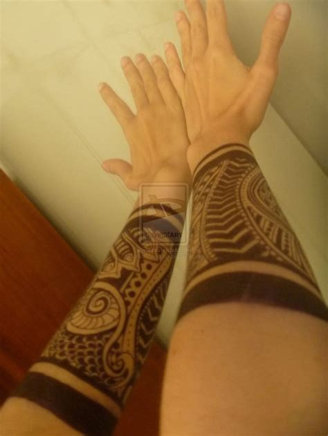 forearm tattoos tribal forearm band discover more