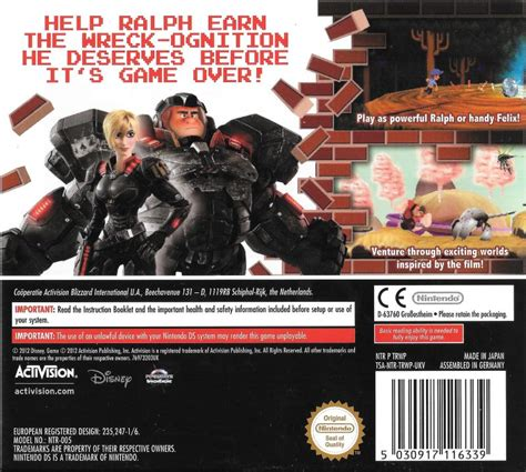 Wreck It Ralph Nintendo Ds wreck it ralph 2012 nintendo 3ds box cover mobygames