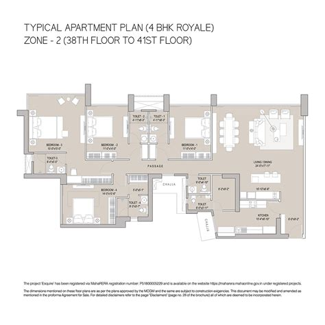 1 e 52nd 4th floor 3 4 bhk luxury apartments property in goregaon e