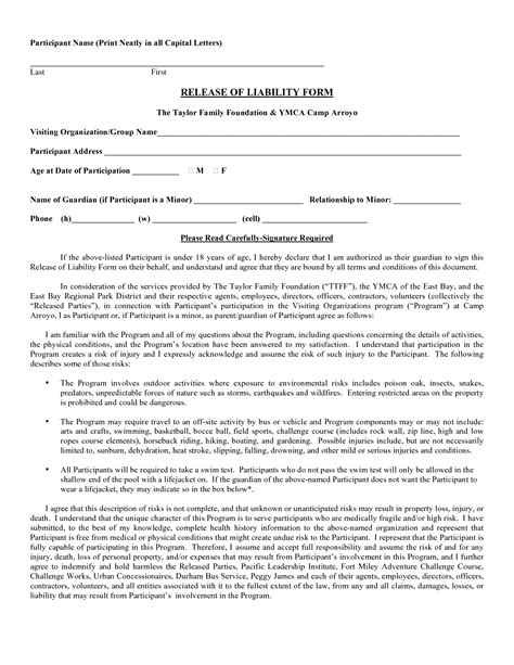 liability release form template free release of liability template free portablegasgrillweber