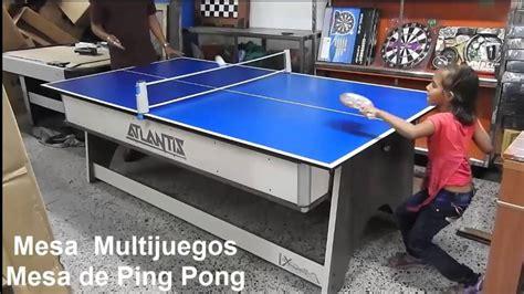 mesa de juegos  en  billar pin pong hockey comedor youtube