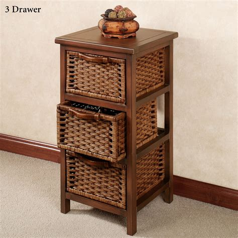 Wicker Chest Of Drawers by Montaserro Wooden And Rattan Chest Of Drawers