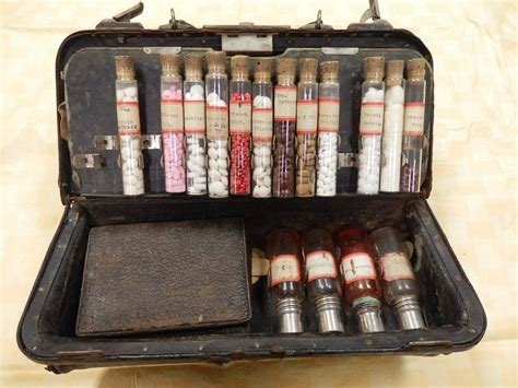 Doctor Bag Careve Series 01emo1223 dr lord smith s bag inside shown a series of medications including bismuth