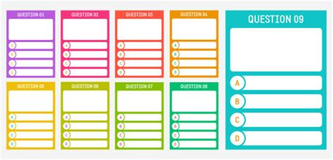 printable quiz template printable cards for creating a quiz miscellaneous