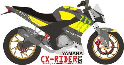 Fairing Custom R25 For Vixion Black White Energy modifikasi v ixion energy cxrider