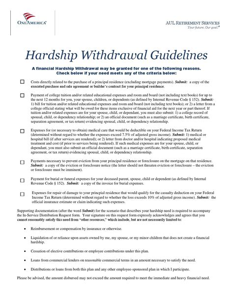 Hardship Letter For 401k Withdrawal Sle 401k hardship withdrawal participant guidelines by mattress firm benefits issuu