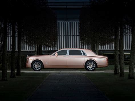 rose gold rolls royce rolls royce reveals special sunrise phantom an automotive