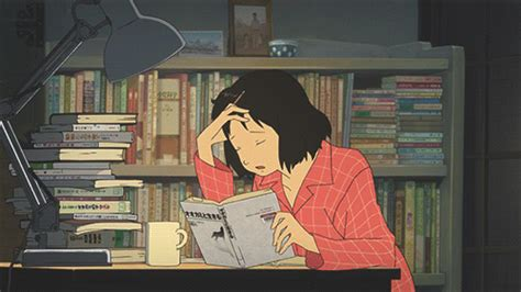 anime girl studying wallpaper study group gif find share on giphy