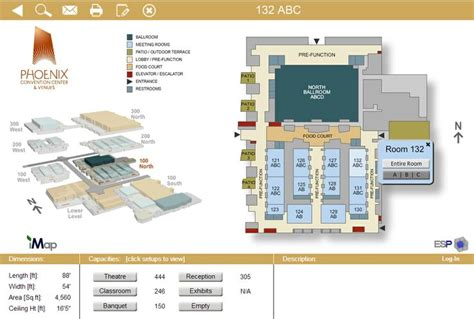 phoenix convention center floor plan event space presentation software presenting a floor level