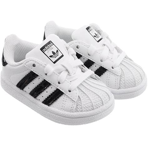 adidas superstar i baby shoes low top sneakers white with pink or black new ebay