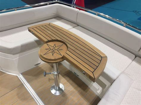 folding boat tables uk nautic star circle teak boat table marine teak