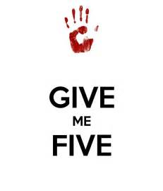Give Me 5 The House Give Me Five Poster Oscar Keep Calm O Matic
