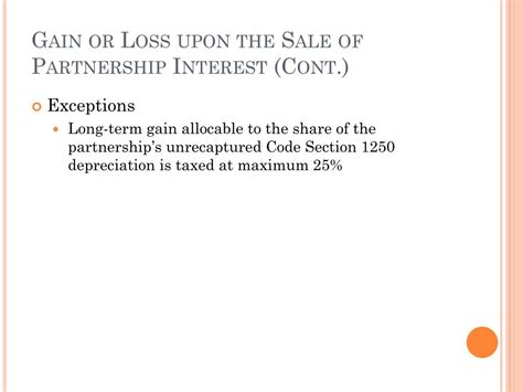 section 1250 loss ppt chapter 12 partnership distributions powerpoint