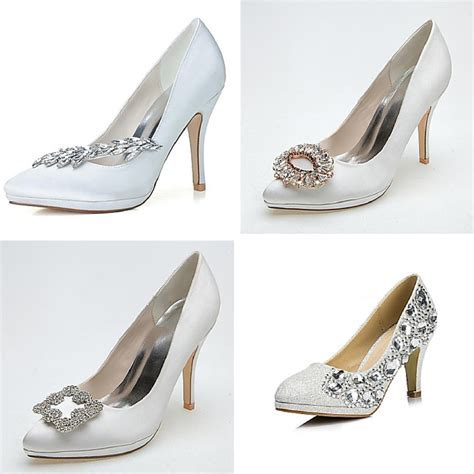 Flat Bridal Wedding Shoes   Ultra High Heel Classic