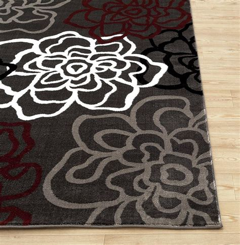 Amazon Com Rugshop Contemporary Modern Floral Flowers Modern Floral Area Rugs