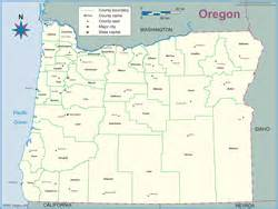 home state county oregon county outline wall map by maps