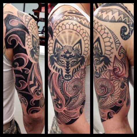 tribal tattoos reading plus motif loup sur le bras pour homme pinteres