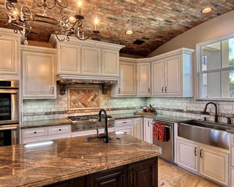 antique brick kitchenclassic kitchens with traditional and old chicago brick kitchen design ideas remodels photos