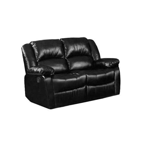 black leather reclining loveseat venetian worldwide winslow bonded leather match recliner