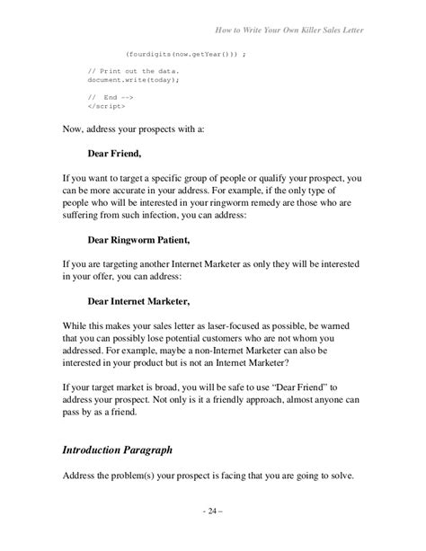 var date format javascript how to write your own seller letter