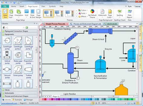 p id diagram software easy process and instrumentation drawing software